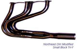 Beyea Custom Headers - NE Dirt Modified - Small Block Tri-Y Header